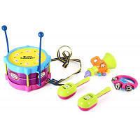 Детские барабаны погремушки обучающая игрушка Цветной
