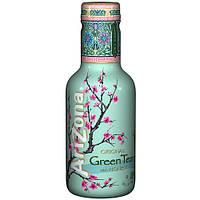 Холодный чай с женьшенем и медом Green Tea AriZona 500 мл