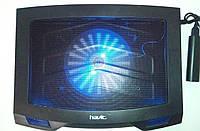 "Подставка-кулер для ноутбука HAVIT HV-F2016 (14-15,6""), USB, black, подсветка, фото 1"