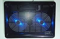 "Подставка-кулер для ноутбука HAVIT HV-F2035 (14-15,6""), USB, black, подсветка"