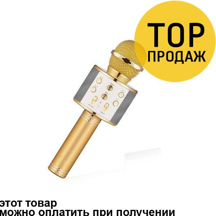 7a63cff00249 Беспроводной микрофон караоке bluetooth WS858 Karaoke Gold   аудиотехника -  БРУКЛИН интернет-гипермаркет в Киеве