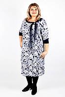 Элегантное трикотажное платье большого размера 60, 62, фото 1