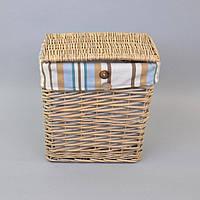 Бельевая корзина E0003-1 №1, размер - 34*31*20 см, материал - лоза, корзина для белья, бельевые корзины, плетеная корзина