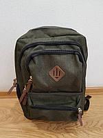 Рюкзак молодежный, школьный, городской олива( 975)