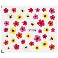 Цветы Смешанной Конструкции Ногтей Наклейки Маникюр Наклейки #4