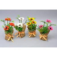 """Композиция цветочная для декора """"Ромашка"""" SU484, 4 вида, декоративный цветок, искусственное растение, букет искусственных цветов"""