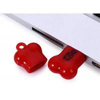 Maikou микро SD картридер в виде маленькой косточки с USB 2.0 интерфейсом Красный