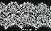 Кружево белое с ресничками стабильное, ширина 18,5см, 1лента=3м