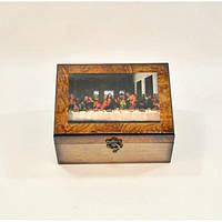 """Комплект шкатулок для хранения мелочей """"The Last Supper"""" D0067, дерево, в наборе 2 штуки, 20x16x9 см, шкатулка под украшения, шкатулка из дерева"""