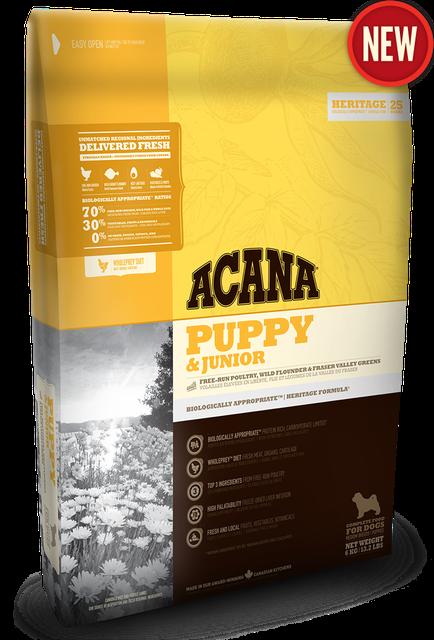 Сухой корм Acana Puppy and Junior (Акана) для щенков и молодых собак средних пород 11.4 кг