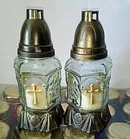Лампадки свечи стекло Часовня