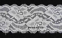 Кружево стрейчевое, ширина  5.5см,цвет белый
