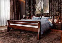 Кровать деревянная полуторная Ретро с деревянным изголовьем