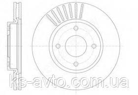 Диск передній гальмівний Nissan Tiid Evropa (C11X/SC11X) діаметр диска 279,8 мм REMSA 61410.10