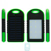 Solar Charger Power Bank A50 10000 mAh + 12 LED черно-зеленый