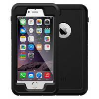WPC-01 Защитный водонепроницаемый чехол для iPhone 6 / 6S с защитой от царапины Чёрный