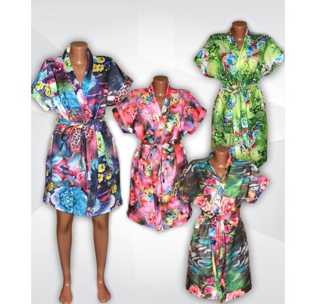 aace7302587f5 Новая модель женских летних халатиков - яркая серия Кимоно из микромасла!
