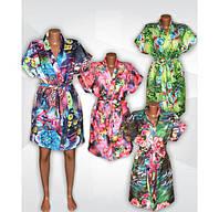 Новая модель женских летних халатиков - яркая серия Кимоно из микромасла!