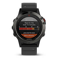 Смарт часы Garmin Fenix 5 - Slate grey with black band