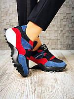 Кроссовки Fashion&Sport. Натуральная замша+обувной стрейч. Р-р 36-40