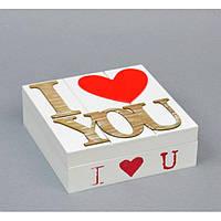 """Шкатулка деревянная для хранения мелочей """"Сердце"""" PR0348, размер 5х15 см, шкатулка под украшения, шкатулка из дерева"""