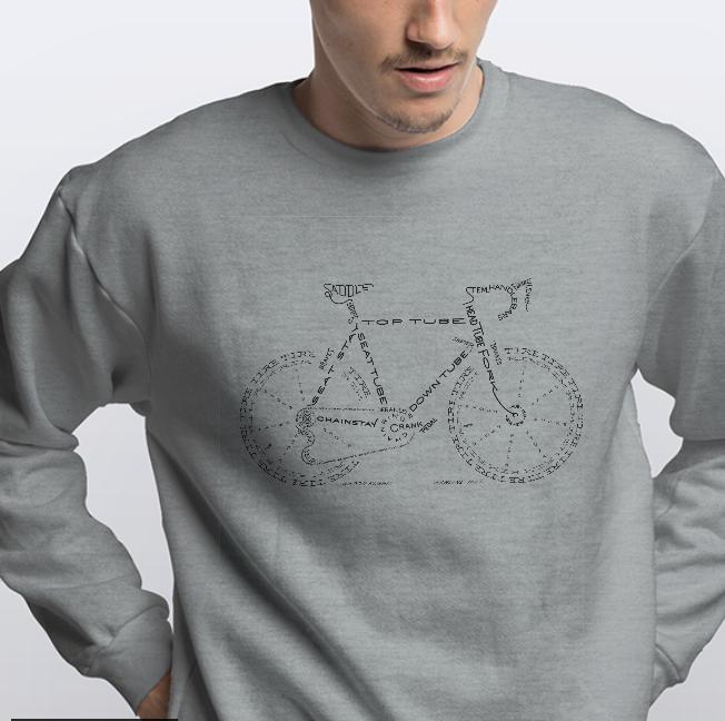Свитшот з принтом Велосипед из букв