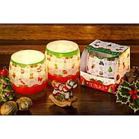"""Свеча в стакане для праздничного интерьера """"XMAS"""" S7186, из 12 шт, Свечки для Нового Года, Свечи в сосудах, Праздничные свечи"""