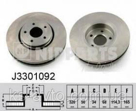 Диск передній гальмівний Infiniti FX35 NIPPARTS J3301092