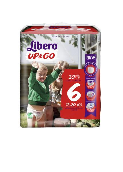 Подгузники-трусики Libero Up&Go , размер 6 (13-20 кг), 20 шт.