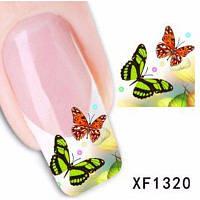 Красочные стильные наклейки для украшение ногтей