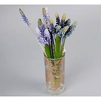 """Композиция цветочная для декора """"Мускари"""" SU1166, размер 28х7 см, декоративный цветок, искусственное растение"""