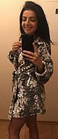 Цветной махровый халат молодежный