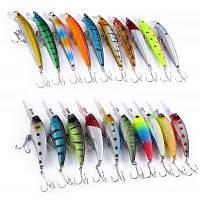 20шт 2 Модели смешанные жесткие рыболовные приманки в форме гольяна рыболовные снасти Цветной