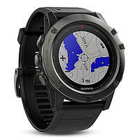 Смарт часы Garmin Fenix 5X Sapphire - Slate grey with black band