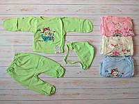 Комплект ясельный для малышей из 2 предметов  (ползуны, распашонка) голубой  56/62 см