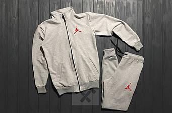 Спортивный костюм Jordan серого цвета (люкс копия)