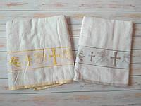 Крестильное полотенце (крыжма) 70х140 см СЕРЕБРО