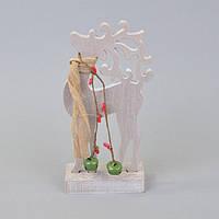 """Новогодний декор для интерьера """"Олень"""" NG02, 22*10*5 см, дерево, Новогодние сувениры, Украшения новогодние, Игрушки на елку, Праздничный декор"""