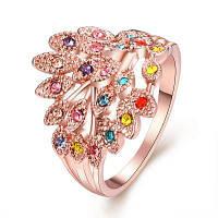 R062 противоаллергическое позолоченное кольцо для женщин 9