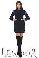 Пушистое платье с вставками сетка