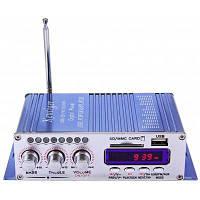 Хы-502 стерео-светодиодный стерео Автомобильный Усилитель Синий
