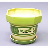 """Вазон керамический для цветов """"Лилия"""" VS/LM, малый, размер 18х15х10 см, 7 видов, вазон для комнатных растений, горшок для растений"""