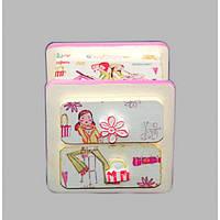 """Комод детский для одежды """"Happy Girl"""" I421, дерево, 2 ящика, 10х10х7 см, комодик для детей, комод для ребенка"""