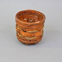 Кашпо WH3696-3 розмір - 16 * 18 см, кошик, вироби з лози, плетений кошик