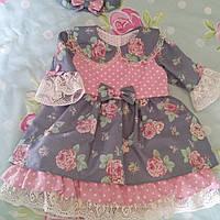 Винтажное детское платье ручной работы