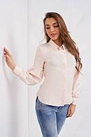 Женская блуза c объемными рукавами, персикового цвета