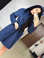 """Женское кашемировое пальто с поясом """"Глория"""". ТКань: кашемир. Размер: 42,44,46,48,50,52."""