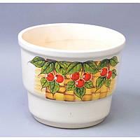 """Вазон керамический для цветов """"Тюльпан"""" VS/TLC, средний, размер 20х16х13 см, вазон для комнатных растений, горшок для растений"""