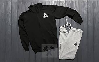 Спортивный костюм Palace черного и серого цвета