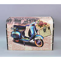 """Скринька дерев'яний для зберігання дрібниць """"Moto"""" 910910-2, розмір 42х61х34 см, скриня для прикрас, шкатулка для речей"""